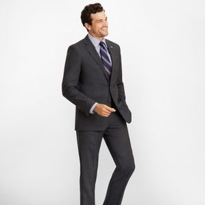 Brooks Brothers Fitzgerald Charcoal Gray Blazer
